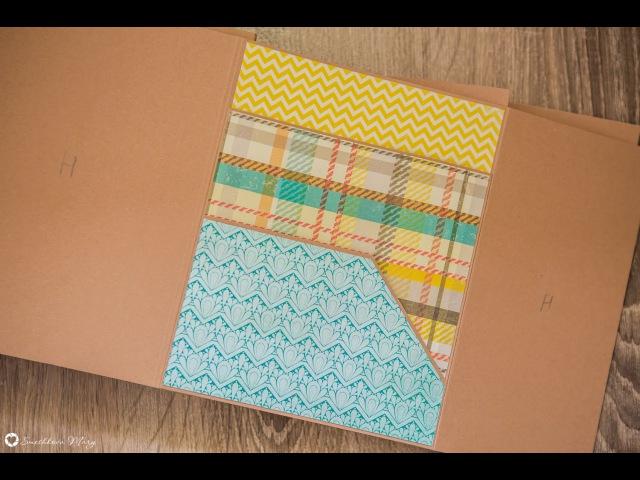 Фотопапки. Дизайн страницы B. Два горизонтальных кармана.
