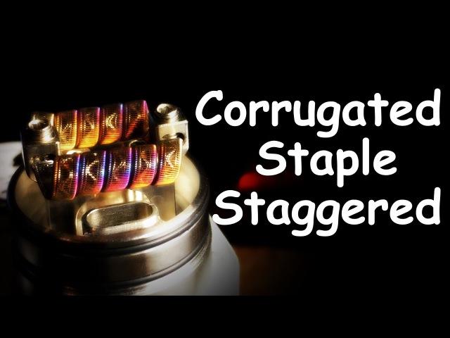Corrugated Staple Staggered Fused Clapton. Подробная инструкция || Full Tutorial