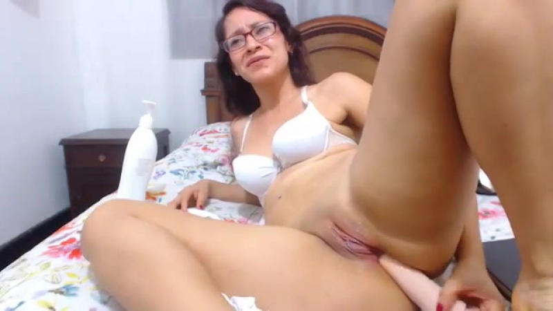 Cam Girl - Latina with Glasses Ass Toy  ATM