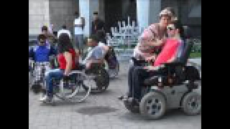 Пятеро здоровых людей сели в коляски в Днепре: квест Мы есть