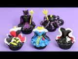 Disney Villains Cupcakes - Maleficent, Ursula, Cruella de Vil, The Evil Queen, Quenn of Hearts
