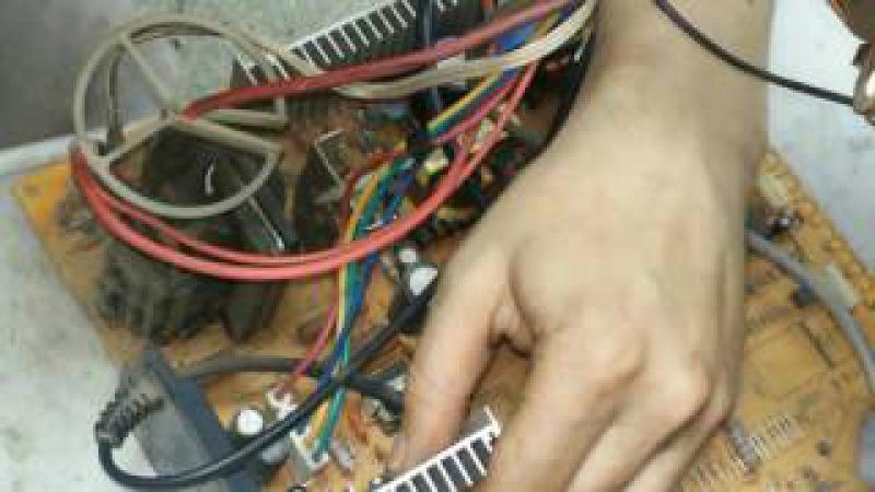 Erisson 2120 не включается, ремонт кадровой развертки