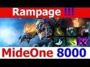 Dota 2 MideOne 8000 top mmr Rampage slark build KDA 26 2 15