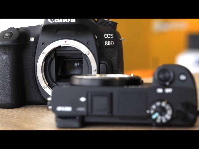 DRTV по-русски: Сравнение Canon 80D и Sony a6300