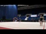 Арина Аверина мяч (опробование) - Гран-при Бухарест 2016
