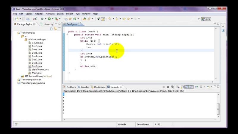 Yakın Kampüs - Java ile Programlamaya Giriş - Ders 9- While ve Do While Komutu
