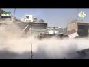 Боевики Jabhat al-Shamiya ведут обстрел из Т-55 позиций САА в Алеппо