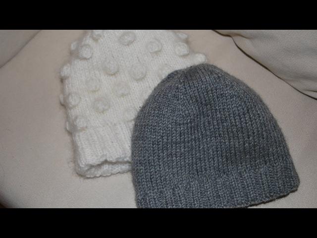 Вязання.Подвійна шапка.Як я це роблю.