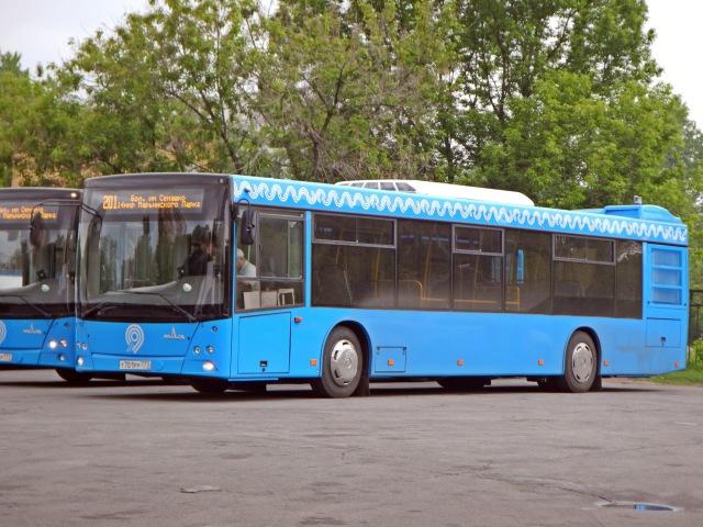 Поездка на автобусе МАЗ-203.069 Т 687 РР 777 Маршрут № 201 Москва