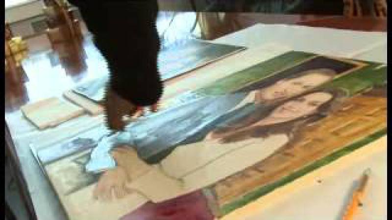 Шоколадная картина, написанная к свадьбе Принца Уильяма и Кейт Мидлтон