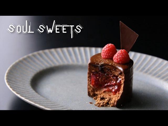 至福のくちどけ チョコとフランボワーズのムース(Chocolate and raspberry mousse) | SOUL SWEETS