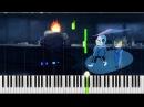 Undertale It's Raining Somewhere Else Piano SANSynthesia OST 63