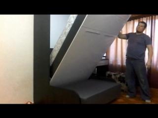 шкаф кровать с диваном Ростов-на-Дону опора в фасаде