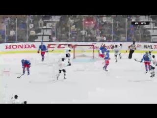 NHL 17 PS4. BETA VERSION. BILI TYGRI Liberec VS New York RANGERS !