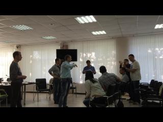Репетиция выступления на занятии
