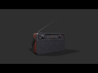 Texturing Radio 3ds max - Substance painter tutorial final part