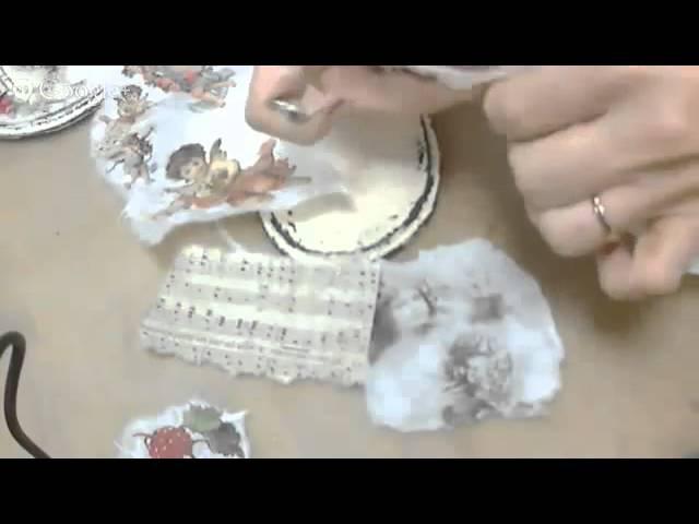 Сердечко в стиле Шебби Шик с рождественскими мотивами: видео мастер-класс Натал ...