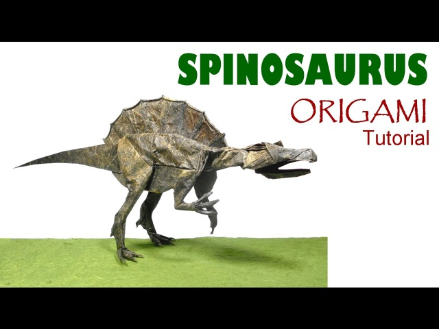Origami Spinosaurus Tutorial (Satoshi Kamiya) dinosaur 折り紙 スピノサウルス оригами учебник динозавр