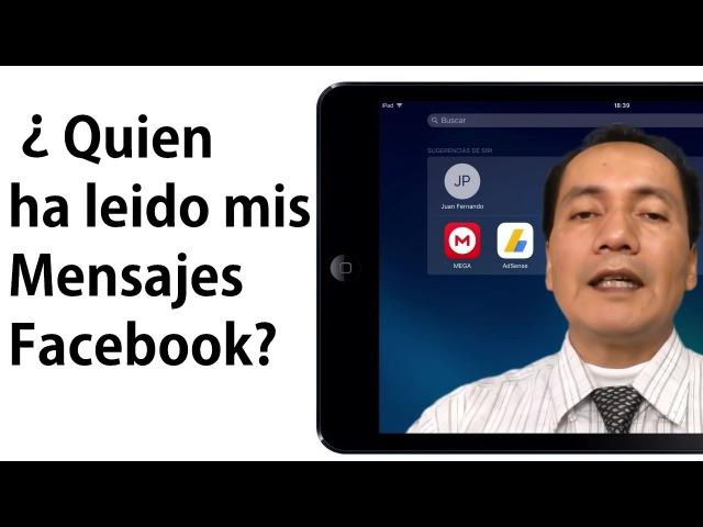 Comprobar si leyeron mi mensaje en Facebook Messenger iPad Fácil