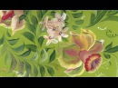 Card for Mother's Day. Flowers stroke painting. Открытка. Двойной мазок. Нарцысы.