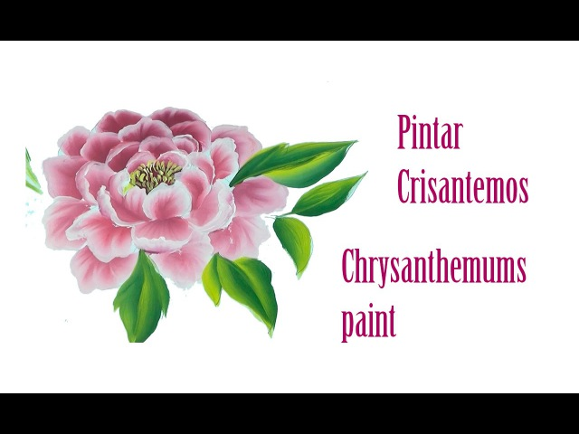 Pintar crisantemos. Chrysanthemums paint