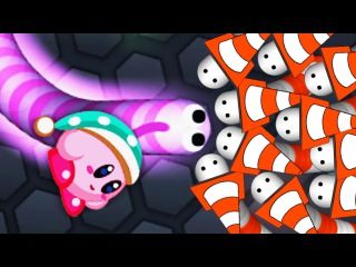 Slither.io Kirby Skin Hack? Epic Tiny Vs Giant Snake In Slitherio! (Slitherio Best Moments)