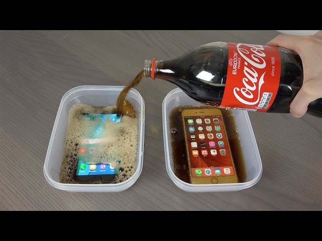 Samsung Galaxy S7 Edge vs. iPhone 6S Plus Coca-Cola Freeze Test 9 Hours! Will It Survive ?