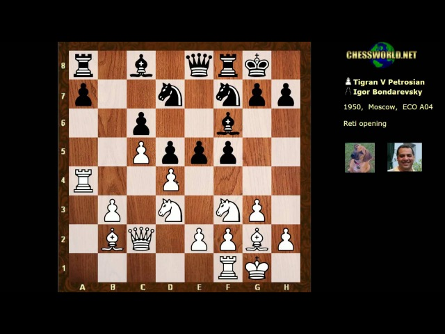 Evolution of Chess Style 179: Petrosian vs Bondarevsky : 1950 USSR - powerful prophylaxis example