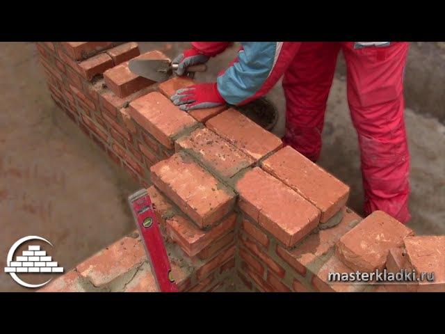 Примыкание стен в 1 кирпич Однорядная система перевязки masterkladki