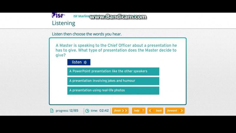 Eleon school курсы английского для моряков. Marlins test