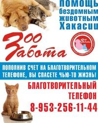 ЗооЗАБОТА -  помощь бездомным животным Хакасии