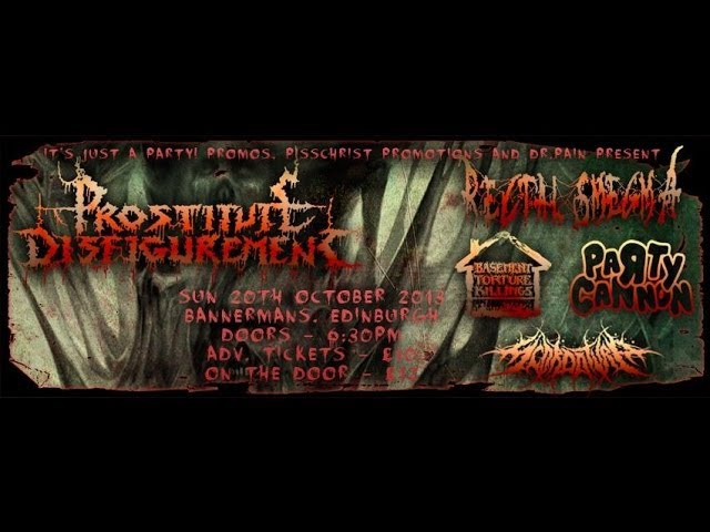 Prostitute Disfigurement NL Live at the Bannerman's Edinburgh October 20 2013 FULL SHOW HD