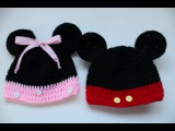 Easy to Crochet Mickey and Minnie Disney Inspired beanies - Yolanda Soto Lopez