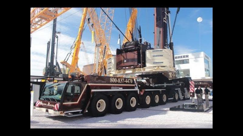 BIG MOBILE CRANE LIEBHERR LTM 1750 9 1 DIGGING RIGGING CONEXPO