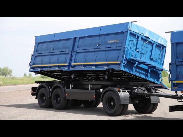 Автопоезд самосвал зерновоз на шасси КАМАЗ-65117 с трехсторонним прицепом от Штурман Кредо