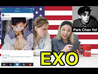 American Girls React to Korean Male Celebrities - Part 2 (KOR SUB)