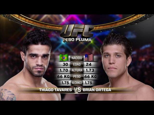 UFC 222 Pelea Gratis: Brian Ortega vs Thiago Tavares