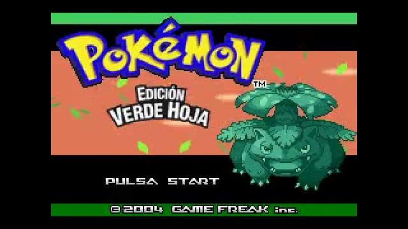TOP 2 GBA | PoKéMoN EDICIÓN VERDE HOJA / LEAF GREEN (GAME FREAK, CREATURES INC., NINTENDO, 2004)