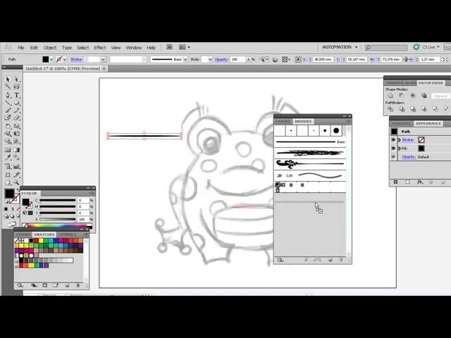 Рисуем контуры в иллюстраторе