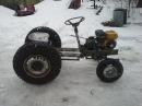 My little homemade garden tractor part4 / first test drive