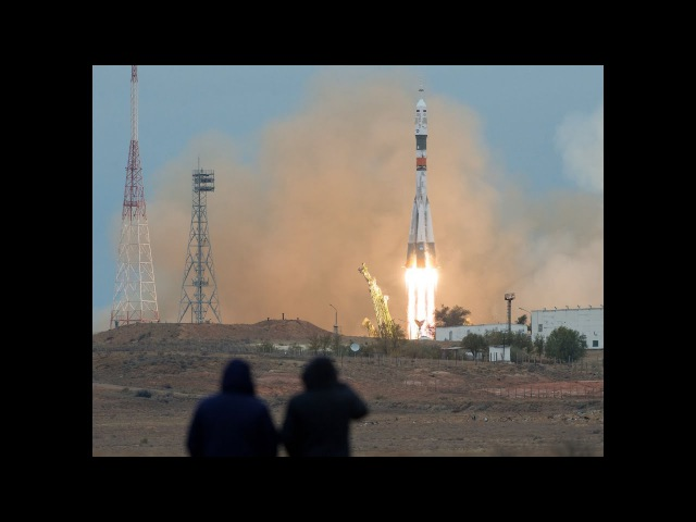 The Soyuz MS-02 launched from the Baikonur Cosmodrome in Kazakhstan. October 19, 2016