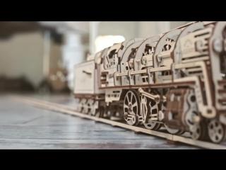 Locomotive with tender UGEARS 460