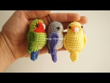 Agaporni o inseparable amigurumi tutorial