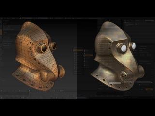 Blender modeling. Modeling a helmet.