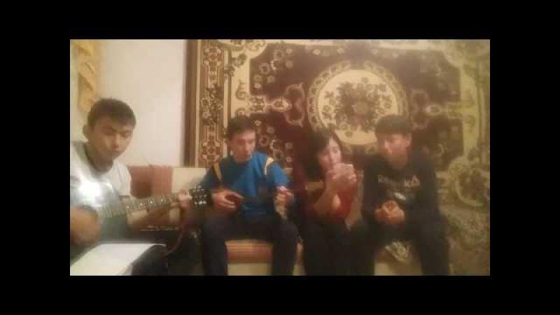 Ансайды жаным на гитаре дуэт (Нуржан Сейсенов,Лязат Белгожаева,Медет Бакытжан,Б...