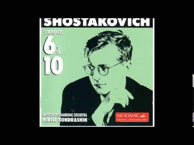 Dmitri Shostakovich : Symphony No. 10 in E minor, Op.93 (Kirill Kondrashin)