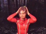 Beautiful Lady Try To Breathplay In Latex