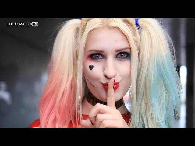 Ria Fend - Suicide Squad Harley Quinn Latex Cosplay