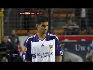 Лига Европы - 2010-11. Группа G. 1 тур. Андерлехт - Зенит (1 тайм, 16.09.2010)