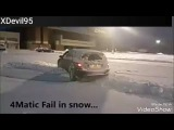 Mercedes 4matic VS Audi quattro on ice!